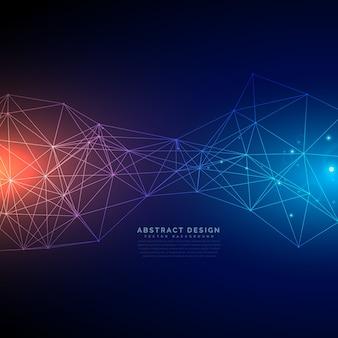 Fondo de tecnología digital con malla de líneas