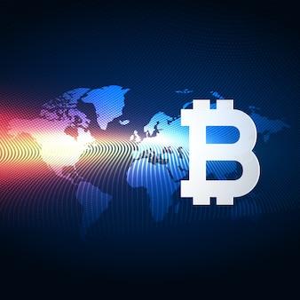 Fondo de la tecnología digital de la moneda de los bitcoins