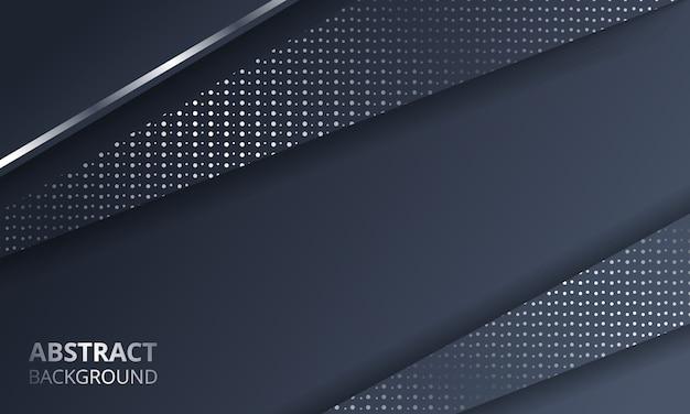 Fondo de tecnología de diseño de marco de plata metálico oscuro abstracto