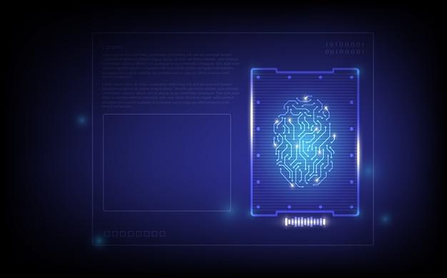 Fondo de tecnología de escaneo de huellas dactilares