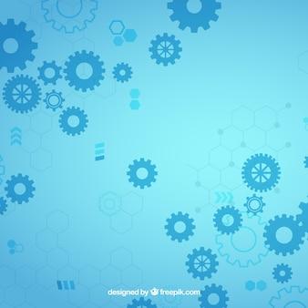 Fondo de tecnología en estilo abstracto