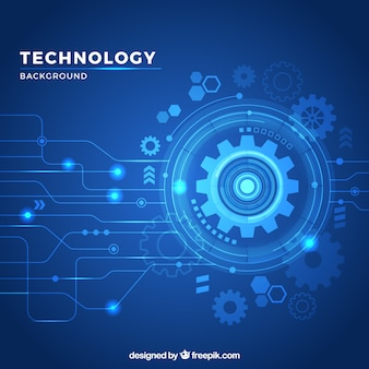 Fondo de tecnología con estilo moderno