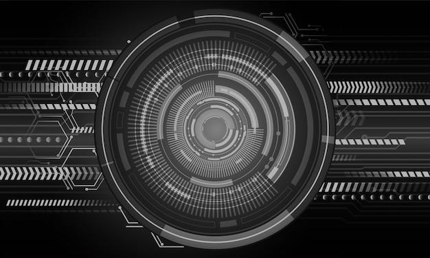 Fondo de tecnología futura del circuito cibernético de ojo negro