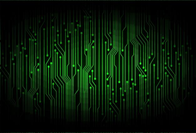 Fondo de tecnología futura de circuito cibernético verde