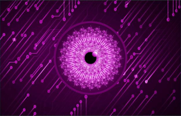 Fondo de tecnología futura de circuito púrpura cyber eye