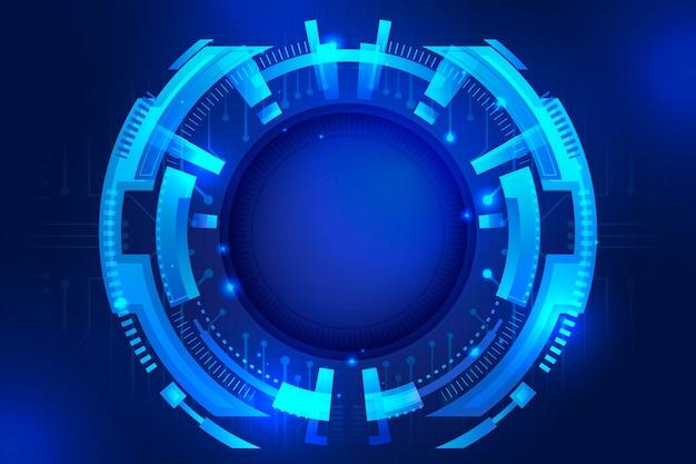 Fondo de tecnología futurista degradado azul