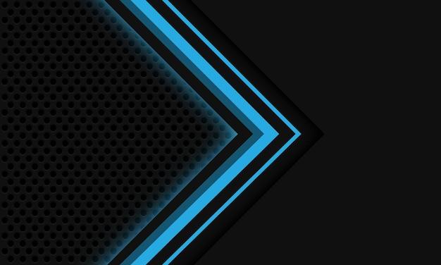 Fondo de tecnología futurista de lujo moderno diseño de malla de círculo de flecha de luz azul gris abstracto
