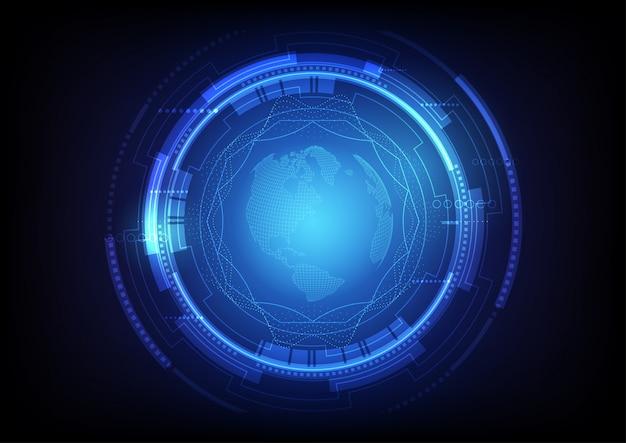 Fondo de tecnología global digital abstracto