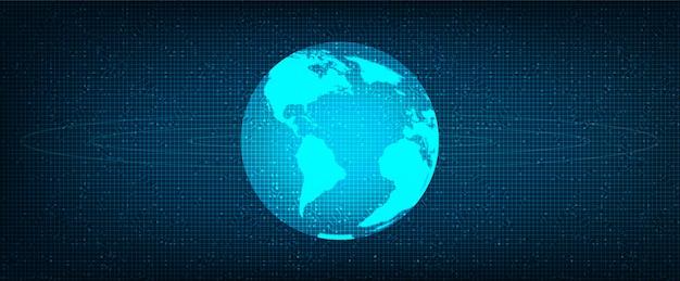 Fondo de tecnología global de red digital, conexión y comunicación, ilustración.