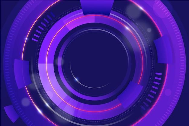 Fondo de tecnología de gradiente circular