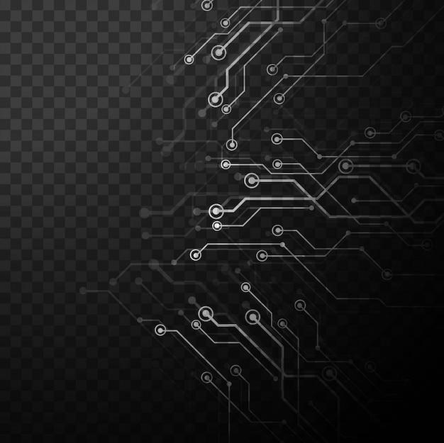 Fondo de tecnología gris en estilo de procesador