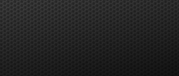 Fondo de tecnología hexágonos futuristas azulejos poligonales geométricos negros con textura