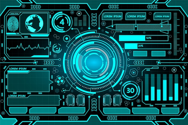 Fondo de tecnología hud de interfaz futurista