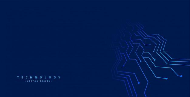 Fondo de tecnología con líneas de placa de circuito
