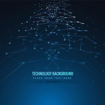 Fondo de tecnología de líneas y puntos abstractos