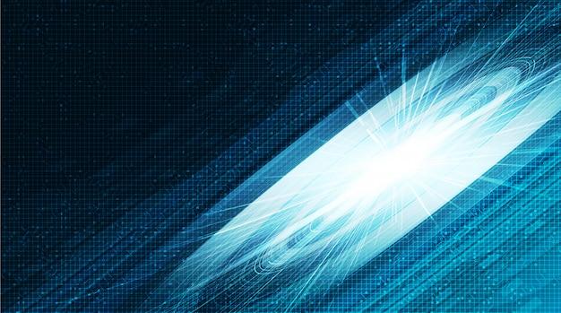 Fondo de tecnología de luz de círculo, diseño de alta tecnología digital y concepto de seguridad.