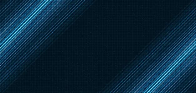 Fondo de tecnología de luz de velocidad azul, diseño de concepto digital y de conexión, ilustración vectorial.