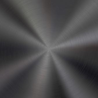 Fondo de tecnología de metal negro