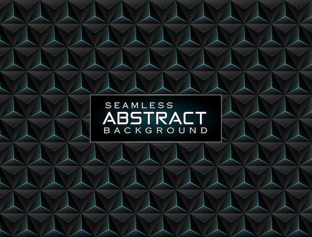 Fondo de tecnología metálica 3d abstracto con luz de neón verde brillante que combina una composición de patrón de hexágono combinado