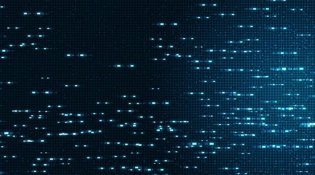 Fondo de tecnología de microchip de circuito electrónico de velocidad