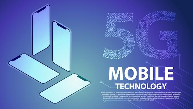 Fondo de tecnología móvil 5g