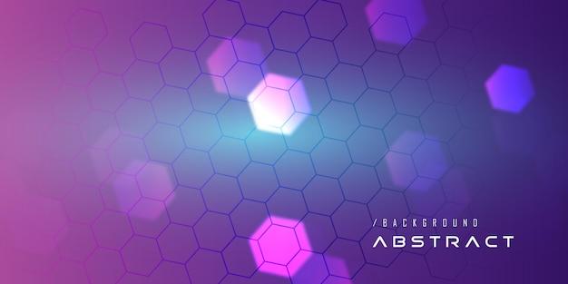 Fondo de tecnología de nanopartículas púrpura