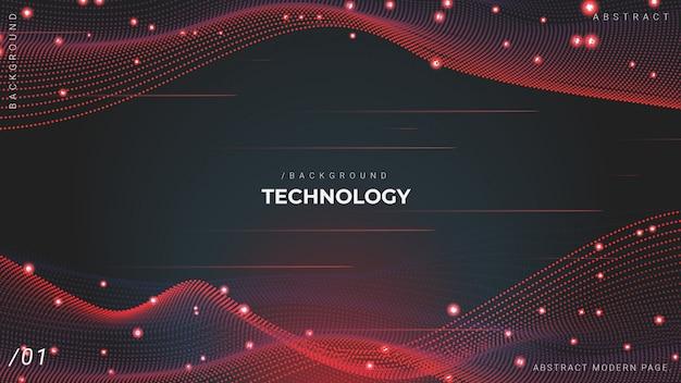 Fondo de tecnología de partículas de red de malla 3d