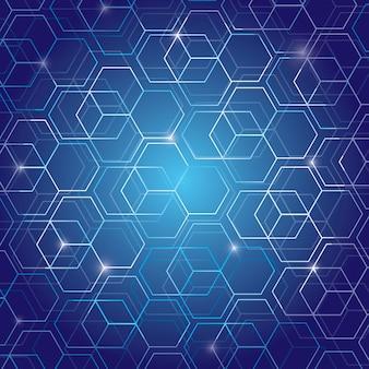 Fondo de tecnología de patrón geométrico