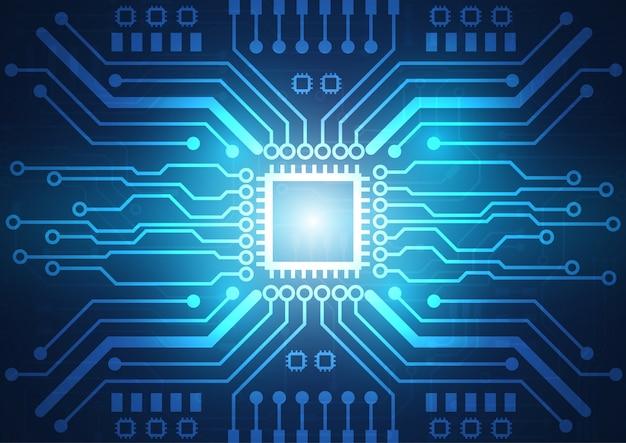 Fondo de tecnología de placa de circuito