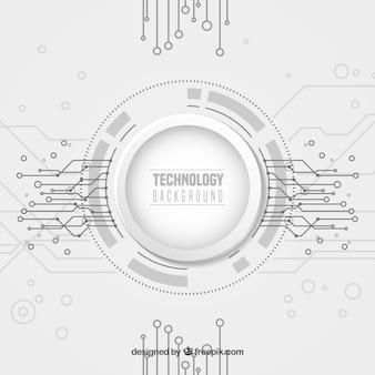 Fondo de tecnología con puntos y líneas