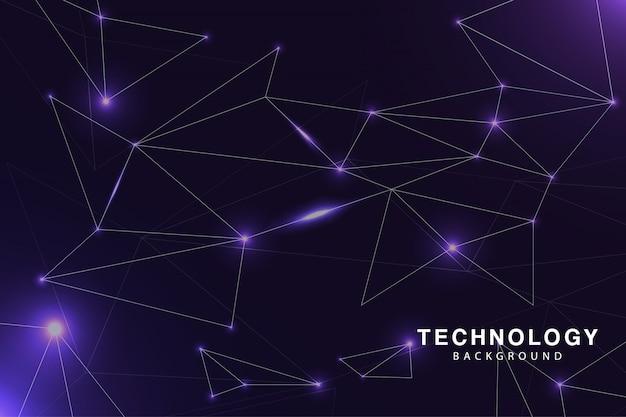 Fondo de tecnología púrpura impresionante