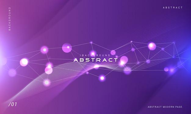 Fondo de tecnología púrpura con luz bokeh