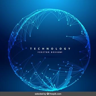 Fondo de tecnología con red circular