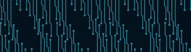Fondo de tecnología de red digital panorámica.