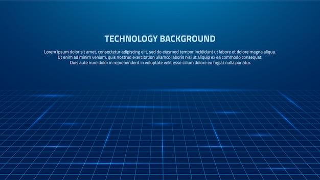 Fondo de tecnología de representación de big data azul abstracto