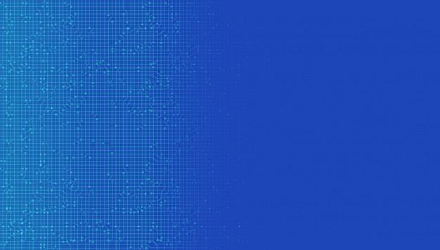 Fondo de tecnología de sistema de red digital azul, conexión de línea y diseño de concepto de internet, ilustración.