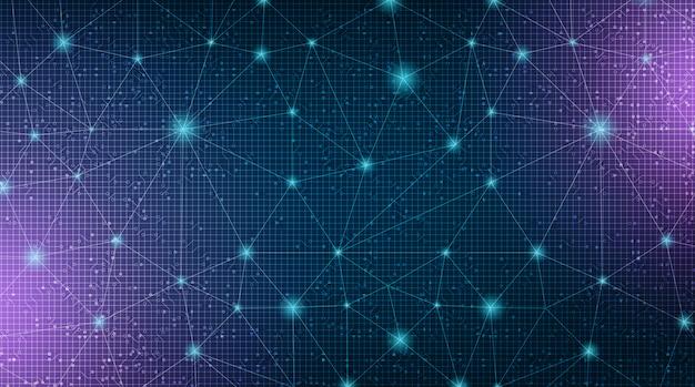 Fondo de tecnología de sistema de red de enlace digital
