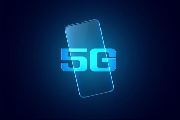 Fondo de tecnología súper rápida móvil de quinta generación