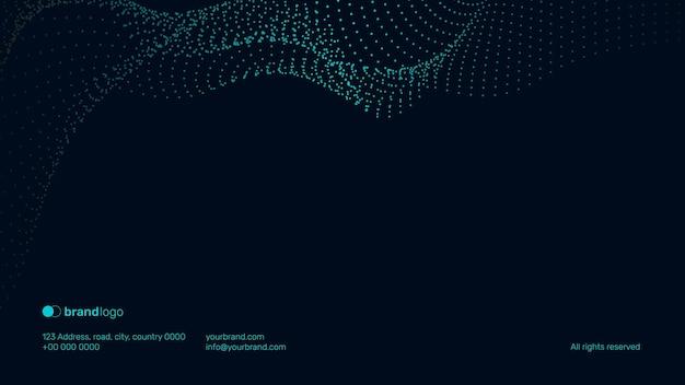 Fondo de tecnología de vector de diapositiva de cierre de presentación