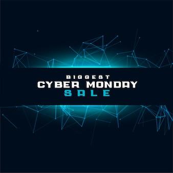 Fondo de tecnología de venta cyber monday para compras en línea