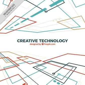 Fondo tecnológico con circuitos en perspectiva