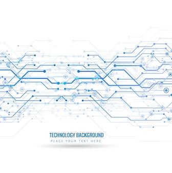 Fondo tecnológico con líneas y puntos azules