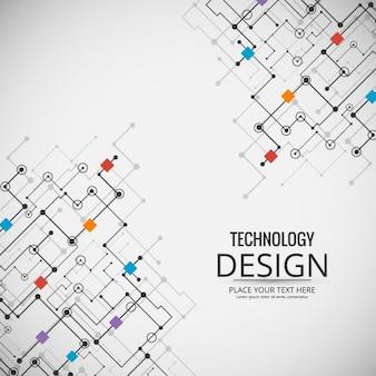 Fondo tecnológico con un circuito