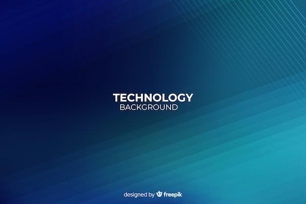 Fondo tecnológico luces de neón realistas