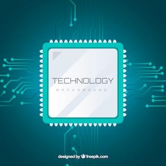 Fondo tecnológico con microchip