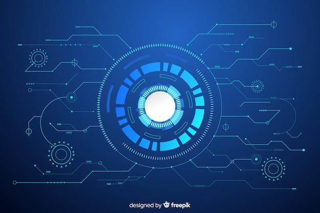 Fondo tecnológico con placa de circuito