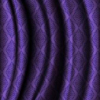 Fondo de tela púrpura con ornamentos