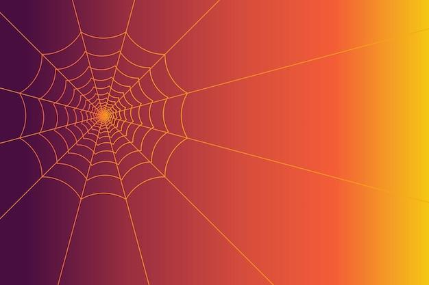 Fondo de telaraña espeluznante para evento de halloween