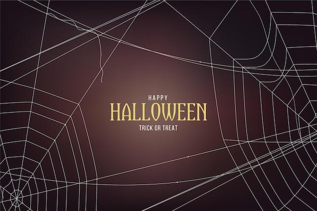 Fondo de telaraña de halloween