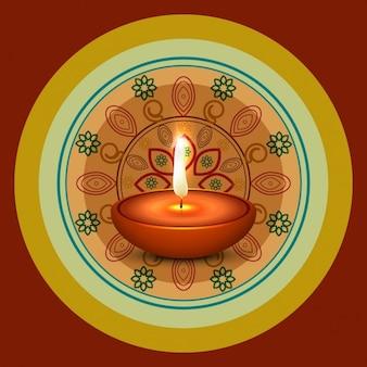 Fondo con tema de diwali